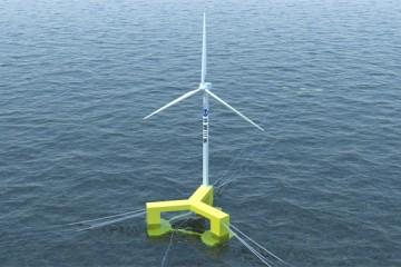 我国自主研发的首台抗台风型漂浮式海上风电机组在广东阳江下线